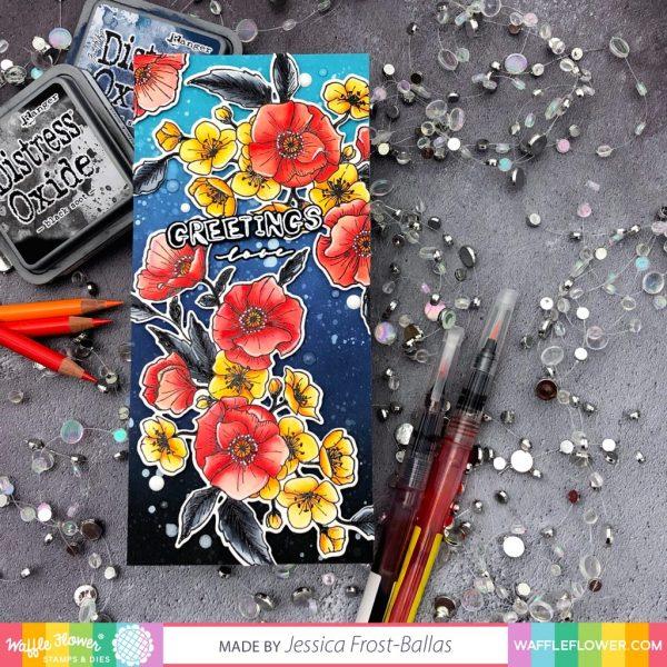 Poppy Hawthorn by Jessica Frost-Ballas for Waffle Flower