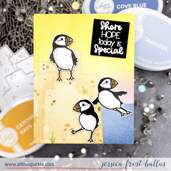 Puffin Party by Jessica Frost-Ballas for Catherine Pooler Designs
