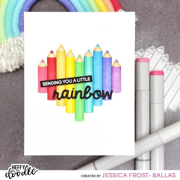 Heart Pencil by Jessica Frost-Ballas for Heffy Doodle