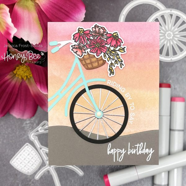 Bicycle Builder by Jessica Frost-Ballas for Honey Bee Stamps