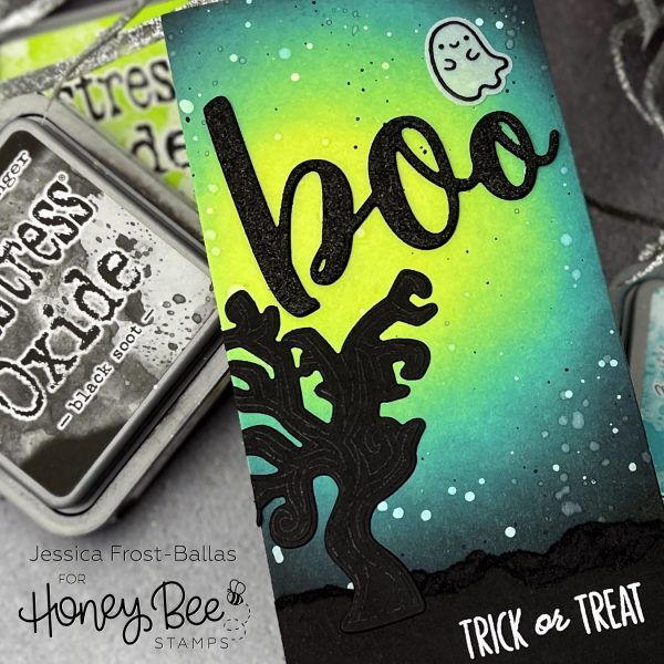 Boo by Jessica Frost-Ballas for Honey Bee Stamps