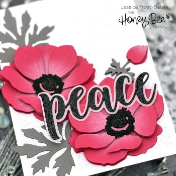 Lovely Layers Anemone by Jessica Frost-Ballas for Honey Bee Stamps